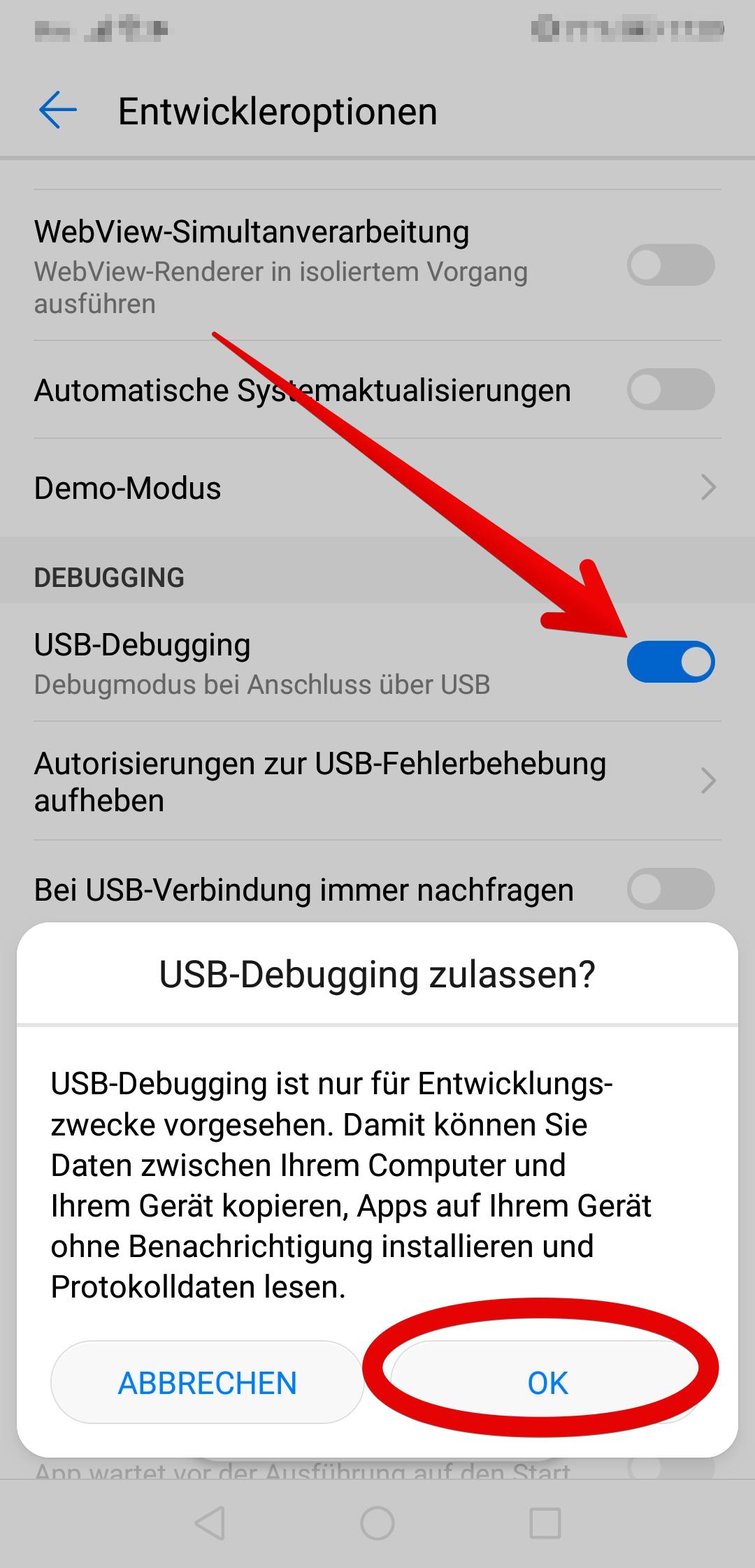 Samsung Usb Debugging Aktivieren