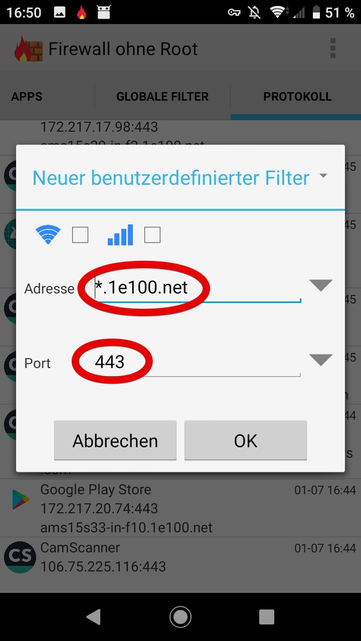 Url Sperren Android